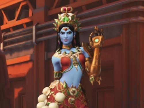 Apariencias de Symmetra cuestionadas por el Hinduismo