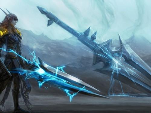Trueno Furioso, espada bendita del Hijo del Viento