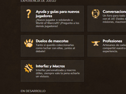 ¡Actualizaciones en el foro de World of Warcraft!