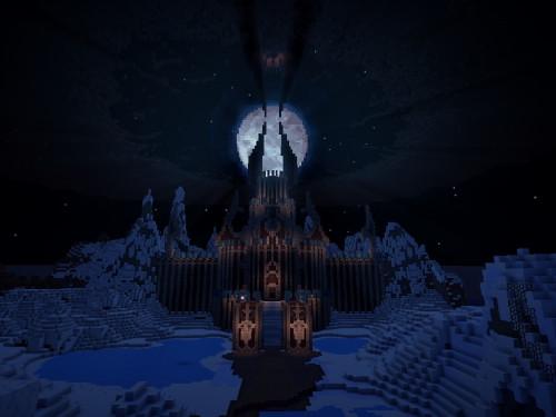 Ciudadela de la Corona de Hielo y Torghast recreados en Minecraft