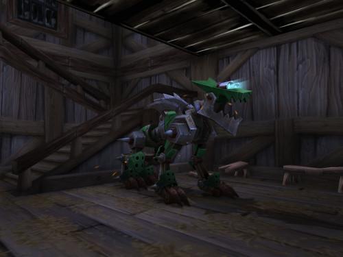 Lobo Mecánico Verde: Mascota Cazador del Parche 7.1