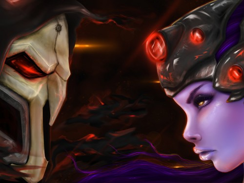 Speed Painting: Reaper vs Widowmaker