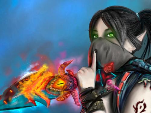 Speed Painting: Elfa de Sangre en Ventormenta