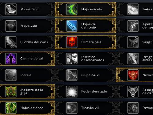 Cambios en los talentos en Battle for Azeroth