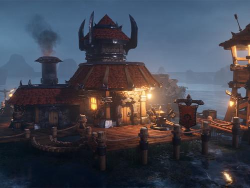Recreación de una herrería inspirada en la Horda en Unreal Engine 4