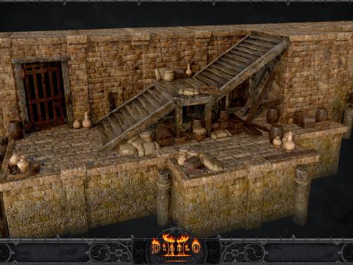 Modelos y Arte conceptual de entornos de Diablo II Resurrected por Pixel Mafia