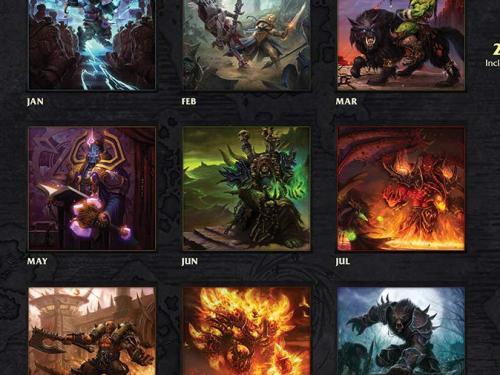 ¡Calendario 2020 oficial de Warcraft ya a la venta!