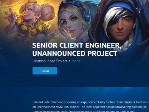 Blizzard trabaja en un proyecto MMO RTS para móviles