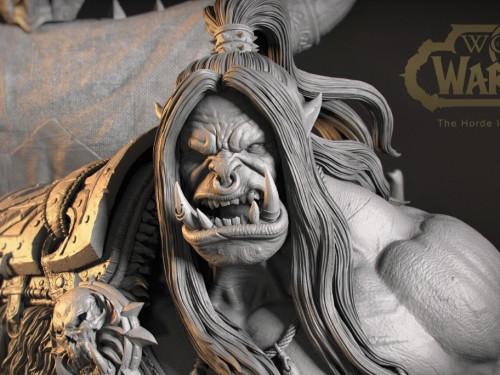 Maravillosa estatua de Grommash Grito Infernal creada por Abbas Emadi