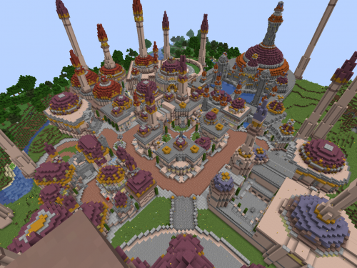 ¡Ciudad de Dalaran recreada en Minecraft!