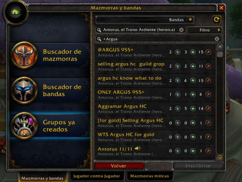 Guía de Addon: Premade Groups Filter y LFRAdvanced