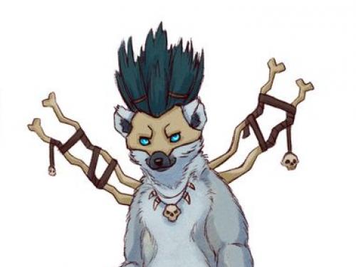 Personajes de World of Warcraft caracterizados como animales