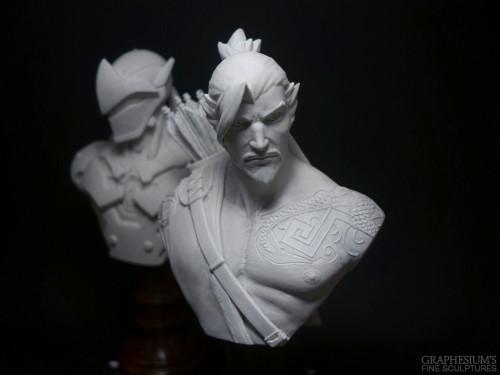 ¡Descubre estas esculturas de Genji y Hanzo!