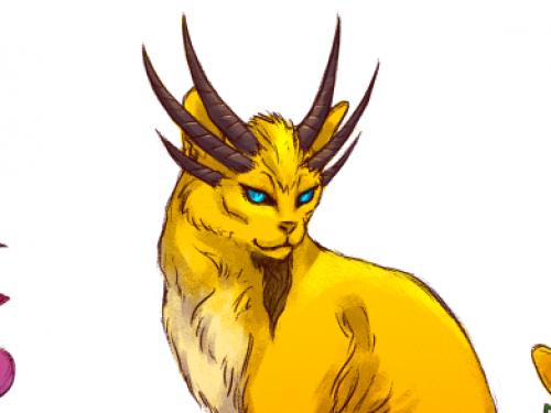 Dragones Aspectos caracterizados como gatos