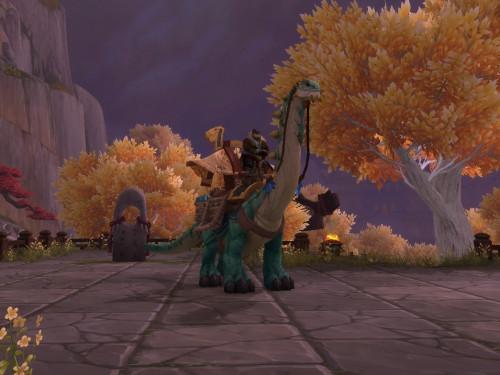 ¡La montura Brutosaurio de caravana poderoso ya no se podrá comprar en Shadowlands!