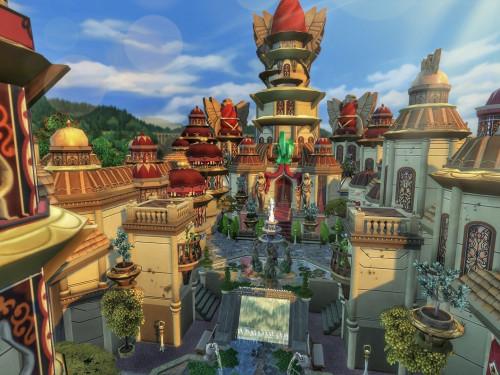 Lunargenta recreado en Los Sims 4