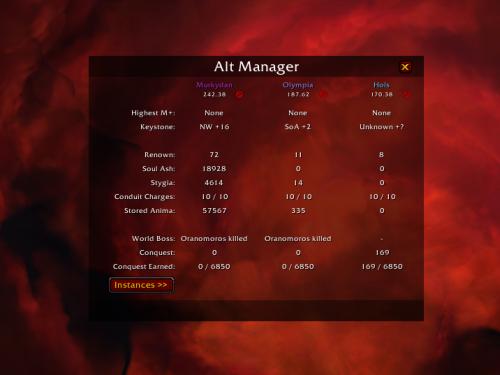 Alt Manager: ¡Conoce información relevante de tus personajes con este Addon!